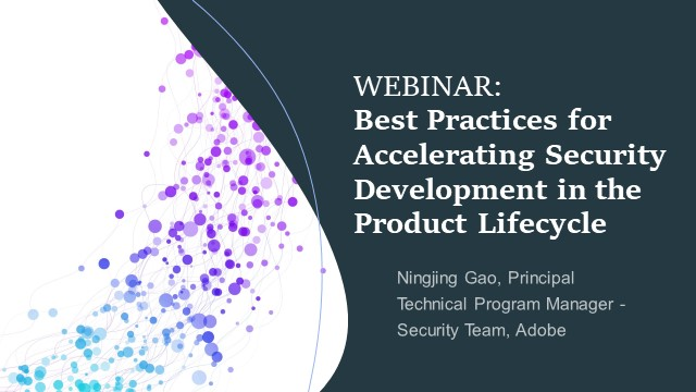 Best Practices for Accelerating Security Development in the Product Lifecycle