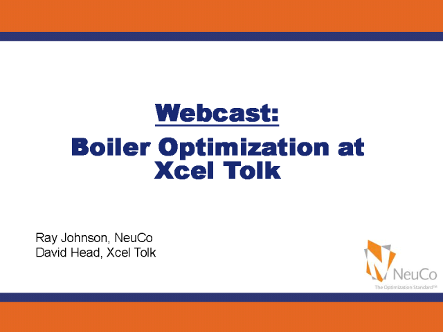 Boiler Optimization at Xcel Tolk Generating Station
