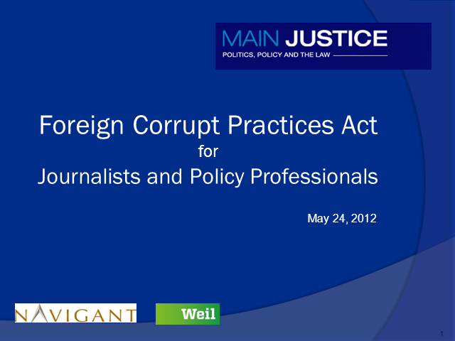 FCPA for Journalists