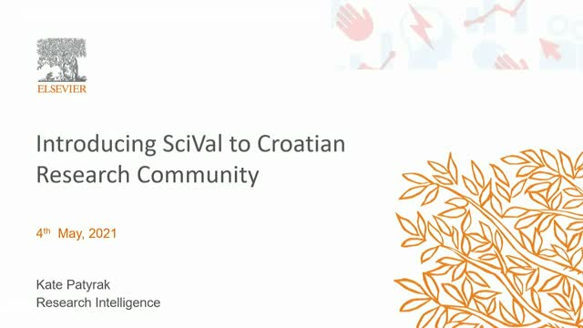 Introducing SciVal to Croatian Research Community