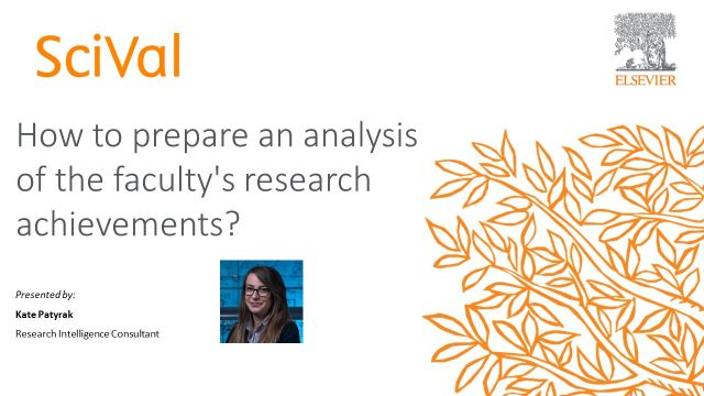 How to prepare an analysis of the faculty's research achievements?