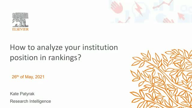 How to analyse your institution position in rankings?