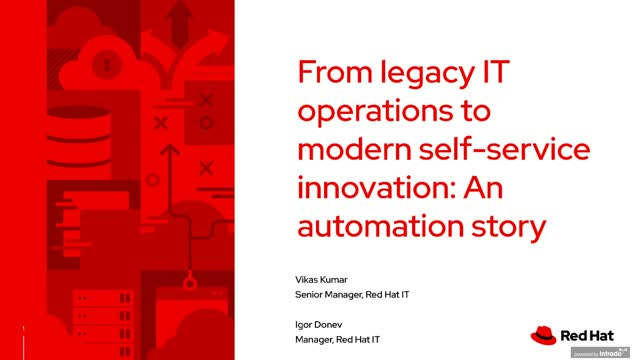From legacy IT operations to modern self-service innovation: An automation story