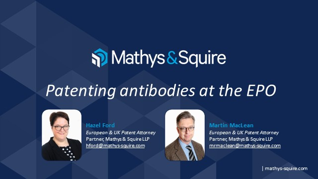 Patenting antibodies at the EPO