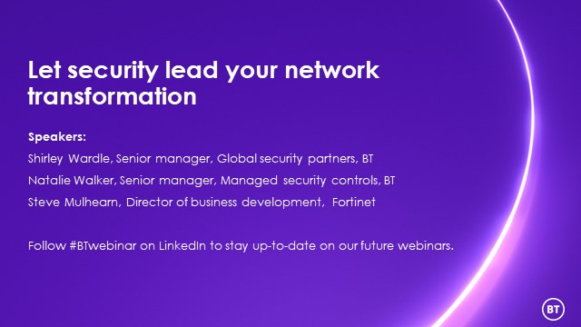 Let security lead your network transformation