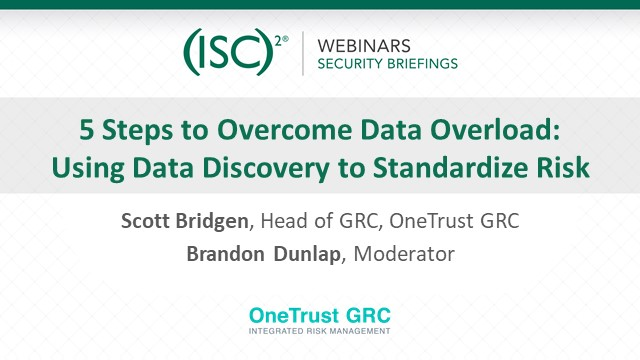 5 Steps to Overcome Data Overload: Using Data Discovery to Standardize Risk