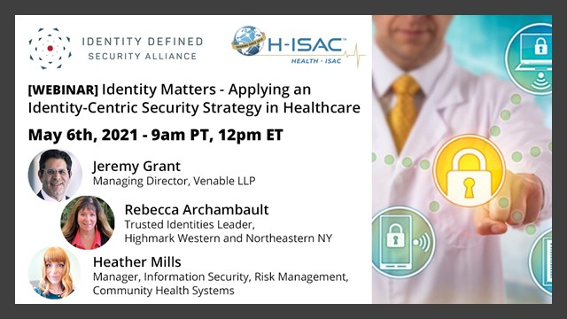 Identity Matters – Applying an Identity-Centric Security Strategy in Healthcare
