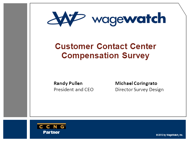 Customer Contact Center Compensation Survey Success