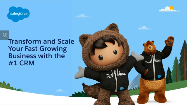 Transform and scale your fast growing business with the #1 CRM
