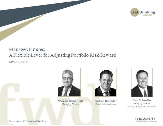 Managed Futures: A Flexible Lever for Adjusting Portfolio Risk/Reward