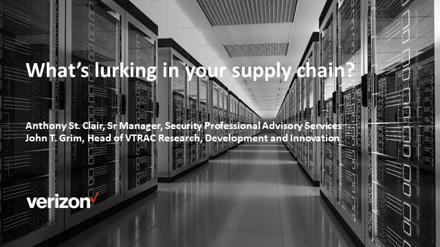 Cybersecurity Innovation Showcase Ep. IV:  What's Lurking in Your Supply-Chain?