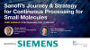 Sanofi's Journey & Strategy for Continuous Processing for Small Molecules