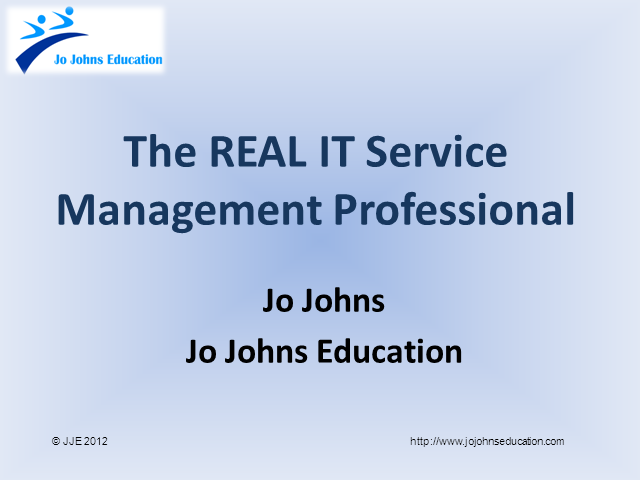 The Real IT Service Management Professional