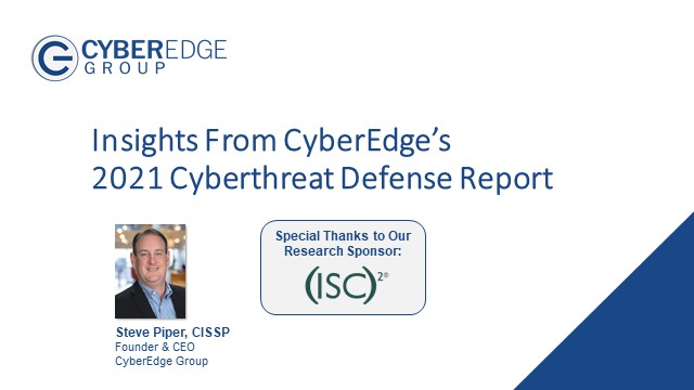 Key Insights from CyberEdge's 2021 Cyberthreat Defense Report