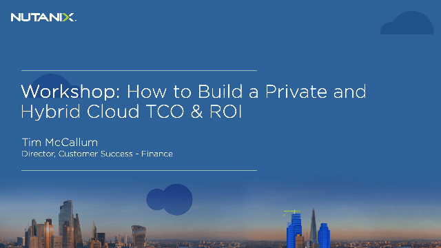 How to Build a Private and Hybrid Cloud TCO & ROI