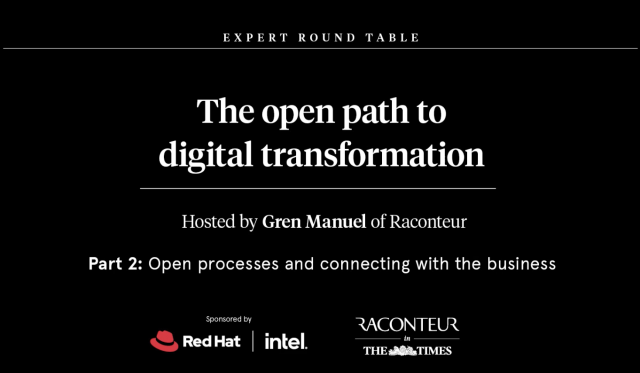 The Open Path to Digital Transformation - Open processes connecting the business