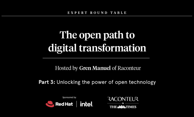 The Open Path to Digital Transformation: Unlocking the power of open technology