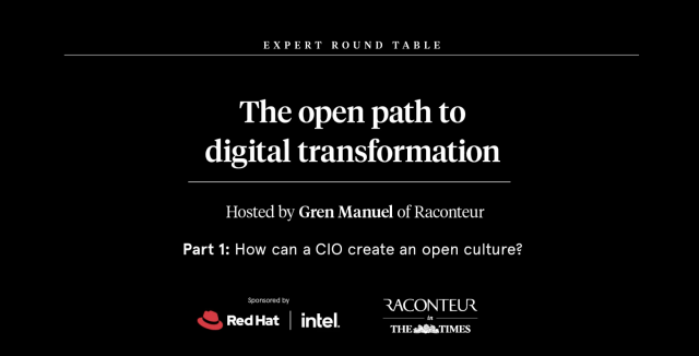 The Open Path to Digital Transformation - How can a CIO create an open culture?