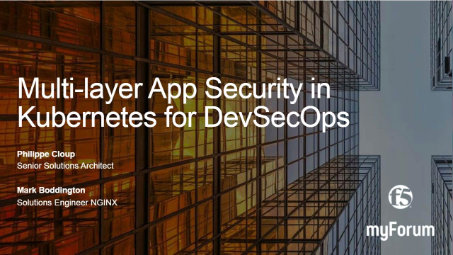 Multi-layer App Security in Kubernetes for DevSecOps