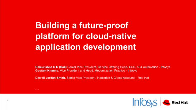 Building a future-proof platform for cloud-native application development
