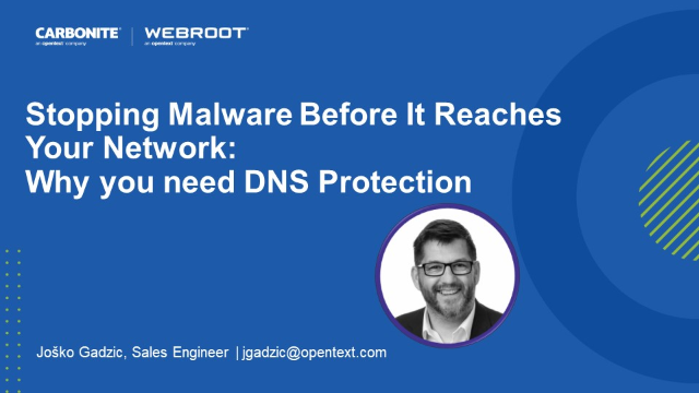 Stopping Malware Before It Reaches Your Network: Why you need DNS Protection
