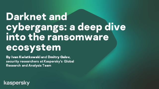Darknet and cybergangs: a deep dive into the ransomware ecosystem