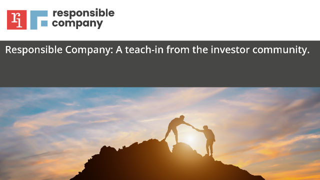 Teach-in with Investors on Engagement- Q&A session