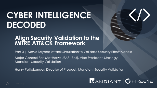 Align Security Validation with MITRE and Att&CK Framework