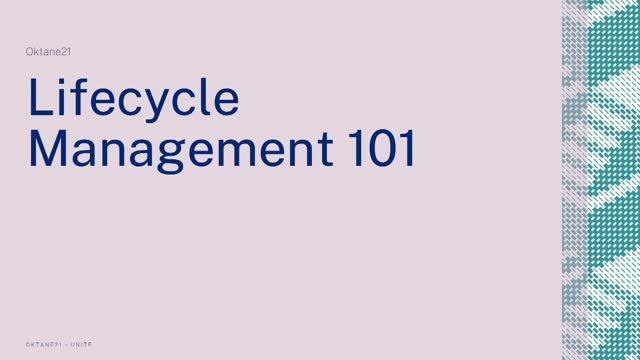 Lifecycle Management 101