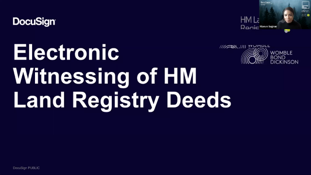 Electronic Witnessing of Land Registry Deeds: joined by HMLR