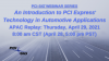 An Introduction to PCIe® Technology in Automotive Applications Replay