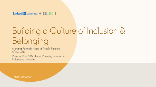 [APAC] Building a Culture of Inclusion & Belonging