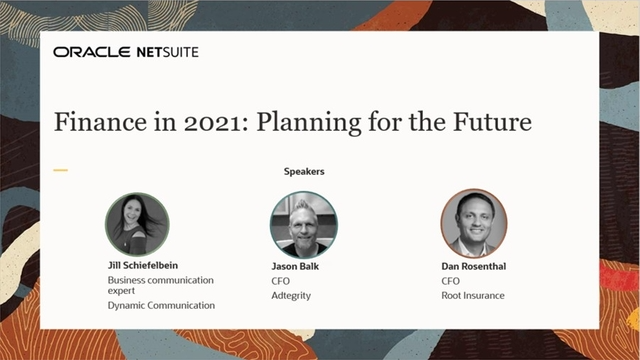 Finance in 2021: Planning for the Future