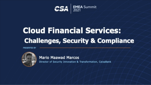 Cloud Financial Services: Challenges, Security & Compliance