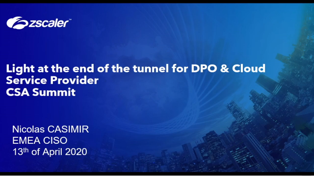 Light at the end of the tunnel for DPO & Cloud Service Provider
