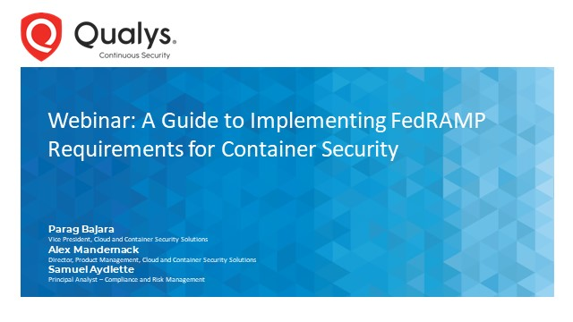 FedRAMP Vulnerability Scanning for Containers