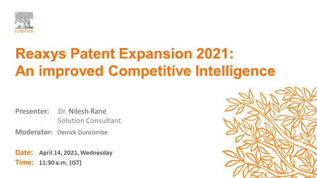 Reaxys Patent Expansion 2021: An improved Competitive Intelligence