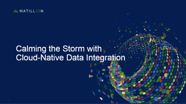 Calming the Storm with Cloud-Native Data Integration