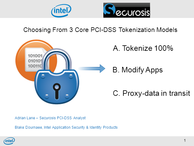 3 Core PCI-DSS Tokenization Models- Choosing the right PCI-DSS Strategy