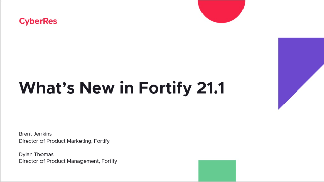 What's New in Fortify 21.1