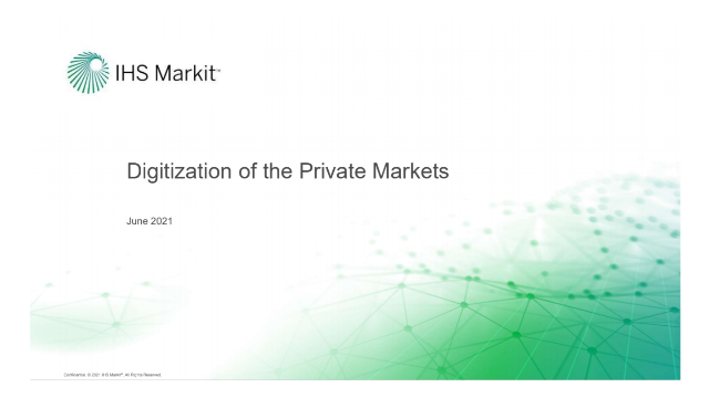 IHS Markit – Digitization of the Private Markets