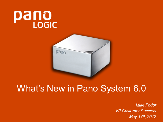 Pano Logic Customer Briefing