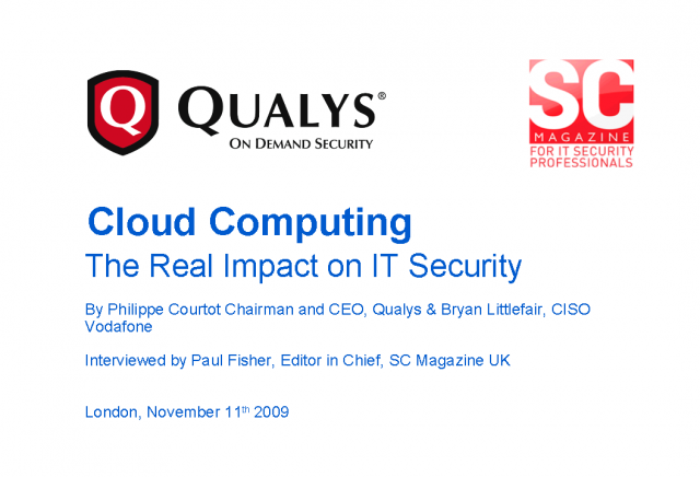 Cloud Computing - The Real Impact On IT Security?