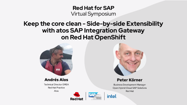 Side-by-Side Extensibility with SAP Integration Gateway on Red Hat OpenShift