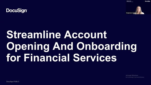 Streamline Account Opening & Onboarding in Financial Services