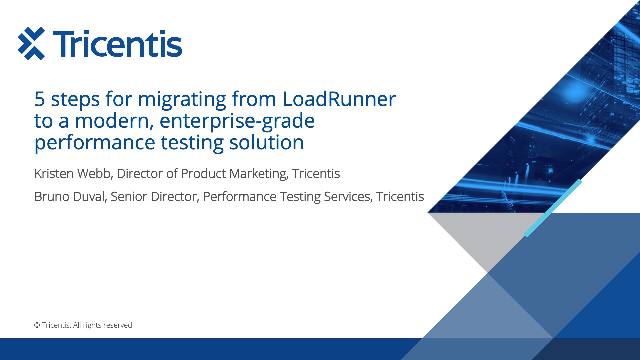 5 steps for migrating from LoadRunner to a modern performance testing solution