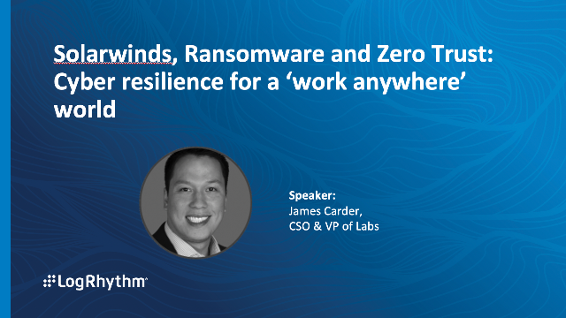 [APAC] Ransomware & Zero Trust: Cyber resilience for a 'work anywhere' world