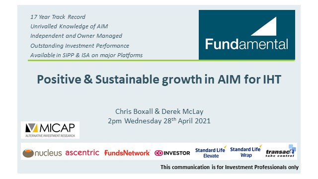 Positive & Sustainable Growth in AIM for IHT. Unlocked!