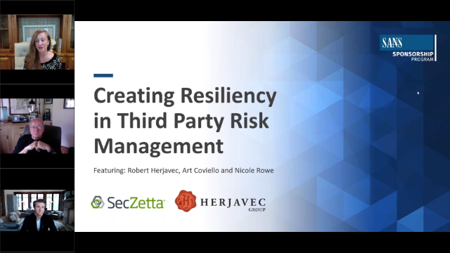 Creating Resiliency in Third Party Risk Management