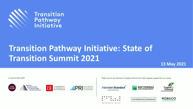 Transition Pathway Initiative: State of Transition Summit 2021